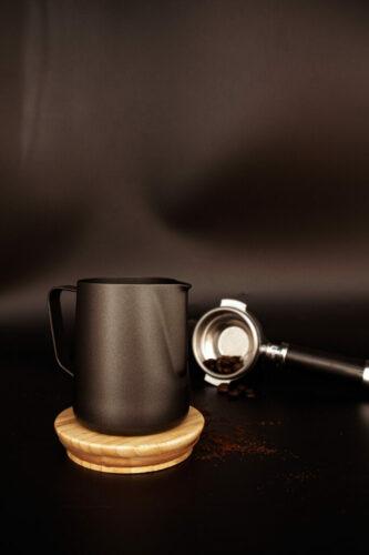 Milchkanne Teflon schwarz 0,35l